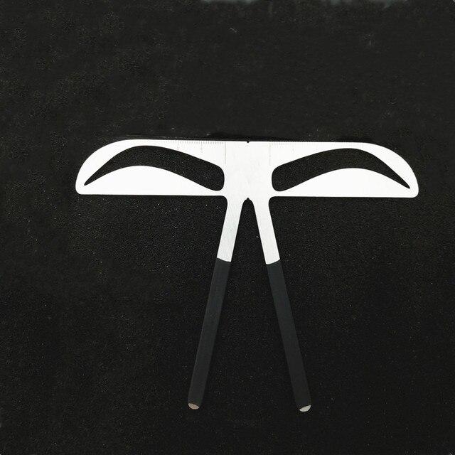 Fashion DIY 3D Metal Eyebrow Ruler Makeup Shaping Position MeasureTools Eyebrow Stencils Beauty Balance Tattoo Stencil Template 4