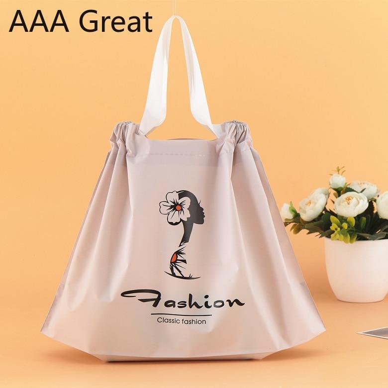 48 Pcs/Lot fleur sacs en plastique Shopping bijoux emballage en plastique cadeaux sac avec poignée mode pochettes noël fête de mariage