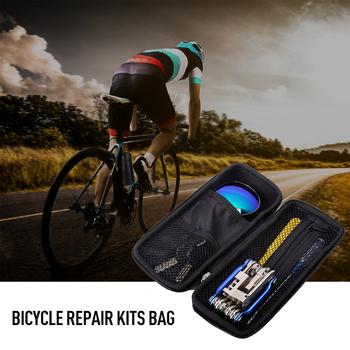 Nowe przenośne zestawy do naprawiania rowerów torby narzędzia wielofunkcyjne zestawy narzędzi naprawczych do jazdy na rowerze zestawy do naprawy opon Bike Tool torba na butelkę tanie i dobre opinie Bryzgoodporna plaid Imitation carbon fiber