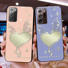 Bling Diamond Butterfly Love Cosmetic Mirror Phone Cases For Samsung Galaxy A20s A20