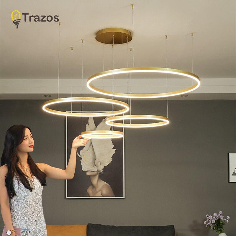 2019 Candelabros de Ouro Ajustável DIY LEVOU Para Sala de estar Pendurado Rodada Acrílico Lâmpada Supension Cozinha de Jantar Lustres Lâmpadas