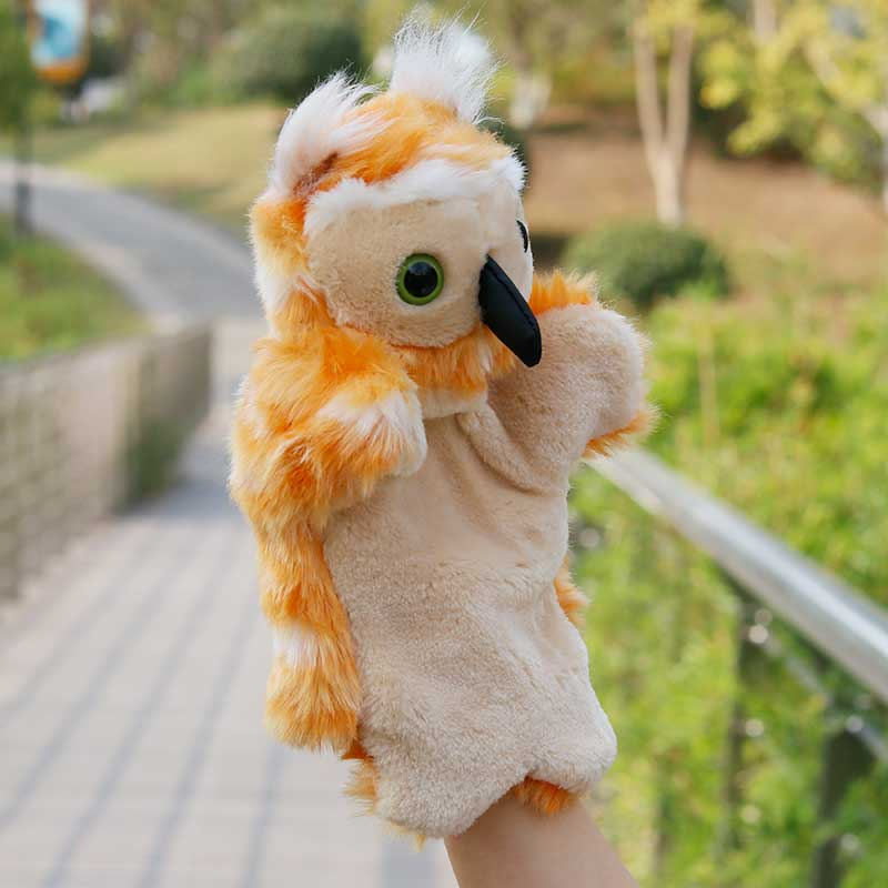 New style cute Peace Dove plush toy hand puppet baby toy telling story gift 1pc