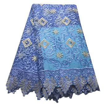 2020 New French Lace Fabric Latest African embroidery High Quality Nigerian Curd guipure With stone Lace Fabric For Dress party