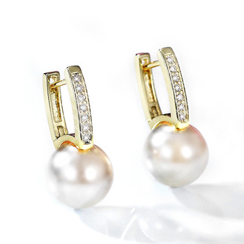 Round Simulated Pearl Women Drop Earrings Modern Design Graceful Female Accessories Beauty Gift Versatile Fashion Jewelry 2