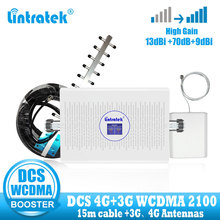 lintratek 3G 4G internet Cellular signal amplifier LTE 4g Cellphone Signal Booster WCDMA 1800 2100 DCS 3G Mobile phone Repeater