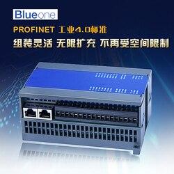 Módulo IO de distribución remota Profinet 16DI 14DO 4AI GSD Entrada de plomo RS485 a puerta de enlace PN
