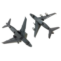 2 шт. отлитая модель самолета дисплей игрушки изысканный подарок офис Забавный детский сплав украшения стенд эксклюзивная модель дома