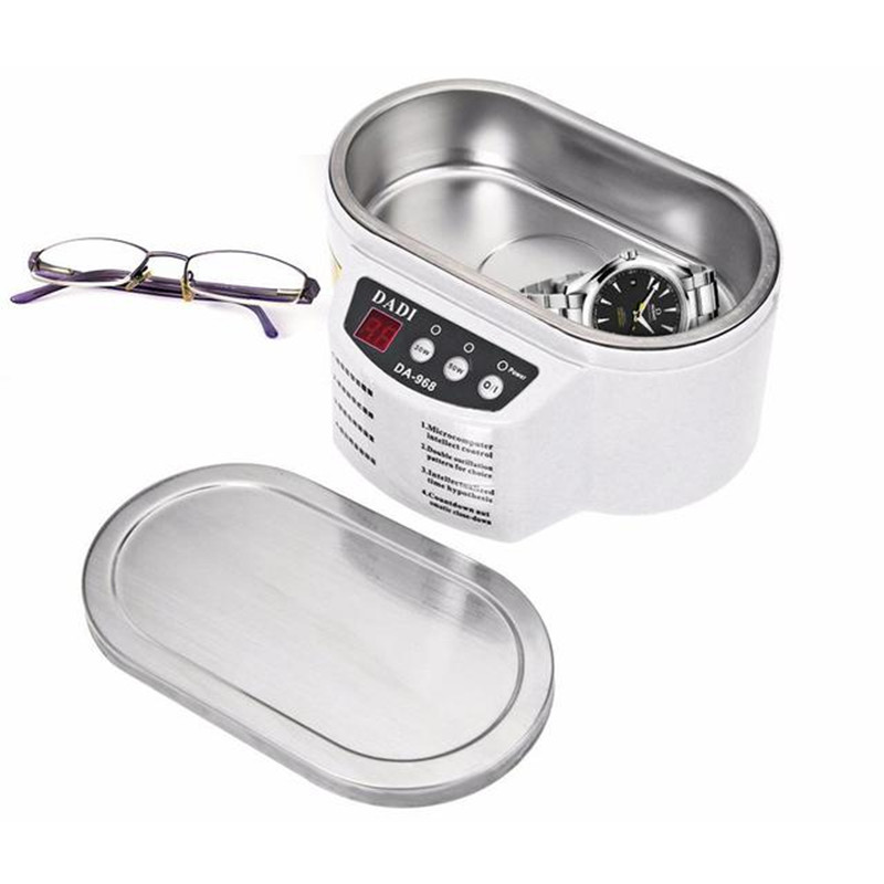 Digital Ultrasonic Cleaner Intelligent Jewelry Glasses Circuit Board Cleaner 600ML 110V US Plug 220V EU Plug