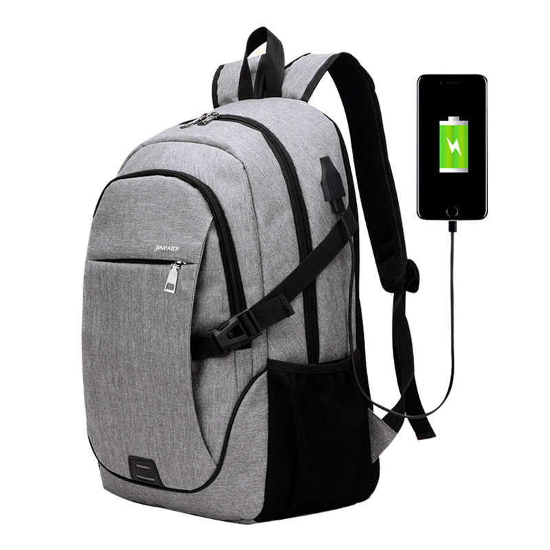 WENYUJH New Computer Notebook Mochila Male Schoolbag Men Business Laptop Backpack With USB Charging Port Anti Theft Travel Bag