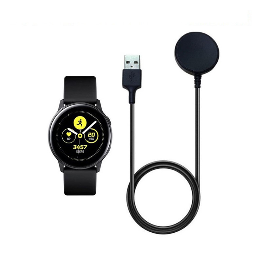 Magnetic Wireless Charger For Samsung Galaxy Smart Watch Active R500 Charging Dock USB Charger Cradle Smart Wacth USB Cable Wireless Chargers    - title=