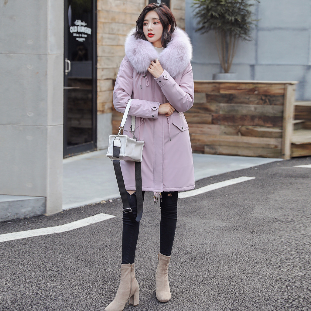 Womail Womens Plus Size Hooded   Parkas   Fashion Warm Thicken Winter Coat Women 2019 New Casual Cotton   Parka   Women