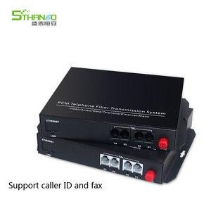 Image 1 - Supporto caller ID e fax 4 Canali pcm multiplexer telefono fibra ottica per rj11 media converter