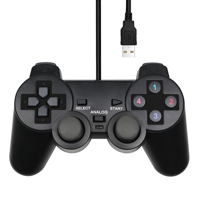 Wired USB Controller Gamepad For WinXP/Win7/Win8/Win10 For PC Computer Laptop Black Game Joystick 1