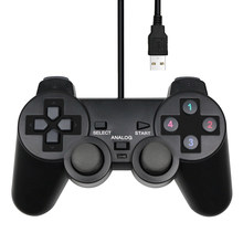 Mando con cable USB para PC, mando negro para WinXP/Win7/8/10