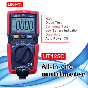 UNI-T UT125C Digital Multimeter Tasche Größe Widerstand Kondensator Frequenz Diode NCV Test DC/AC spannung DC/AC strom messung