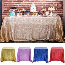 Toalha de mesa retangular do ouro de rosa/prata do pano de mesa do brilho da cobertura de mesa para a decoração da casa da festa de casamento multi-cor/tamanhos
