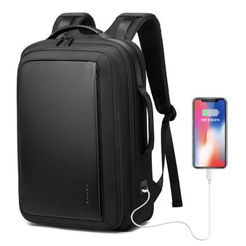 "Bange Fashion Men 15""Laptop Backpack External USB Charge Computer Backpacks Anti-theft Waterproof Travel Backpack for Unisex"