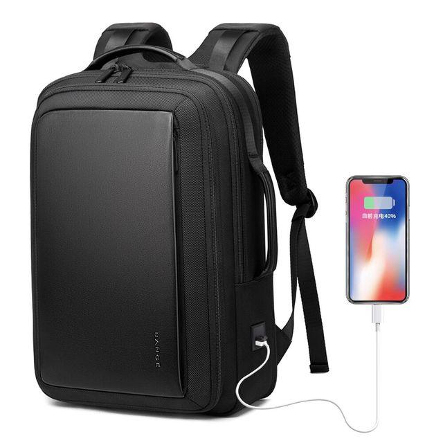 "Bange Fashion Men 15""Laptop Backpack External USB Charge Computer Backpacks Anti-theft Waterproof Travel Backpack for Unisex"