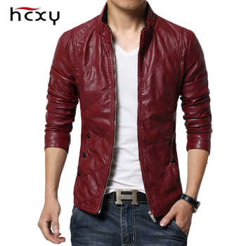 HCXY 2019 Men's Motorcycle Leather Jackets Men Autumn PU Leather Clothing Men Leather Jacket Male Business Upscale casual Coats - DISCOUNT ITEM  15% OFF All Category