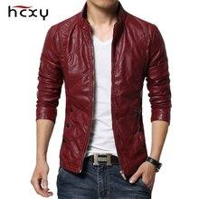 HCXY chaquetas de cuero para hombre, ropa de cuero PU para otoño, de negocios, informales, 2019