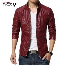 Hcxy 2019 jaquetas de couro da motocicleta masculina outono roupas de couro do plutônio dos homens jaqueta de couro masculino negócios de luxo casacos casuais