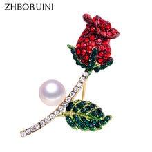 Zhboruini высокое качество натуральный пресноводный жемчуг брошь