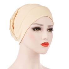 Women solid wild velvet Indian hat popular Muslim Hat Ruffle Cancer Chemo Beanie Scarf Turban Head Wrap Cap Y729
