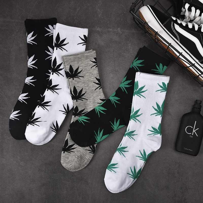 Весенне-осенние повседневные длинные носки-башмачки модные удобные хлопковые носки высокого качества с листьями кленовых листьев