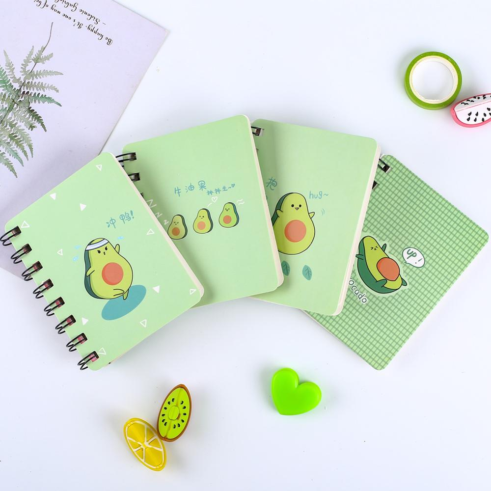 Korean <font><b>Kawaii</b></font> Avocado <font><b>Notebook</b></font> Small Pocket a7 Planner Cute <font><b>Diary</b></font> School Office Accessory Blank Notepad Journal Stationery Thing image