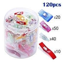 50/100/150 pçs/caixa diy retalhos colorido plástico clipes de roupas titular para tecido estofando artesanato costura tricô clipes de vestuário