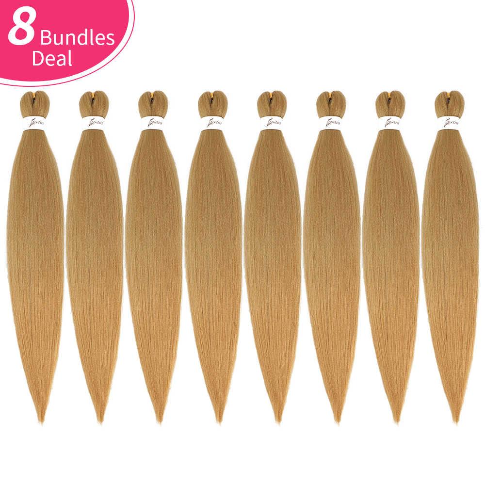 SOKU Einfach Synthetische Flechten Haar 8 Bundles Yaki Gerade Haar Extensions Für Zöpfe EZ Geflecht Ombre DIY Jumbo Häkeln Box zöpfe
