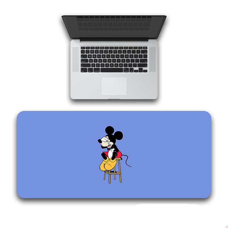 Black 80x30cm Large Minnie Mickey Mouse Pad GamerWaterproof  Desk Mat Computer Mousepad Keyboard Table Cover birthday  Gift