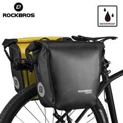 ROCKBROS torba na rower 18L przenośna wodoodporna jazda na rowerze MTB torba na rower Pannier tylny stojak Seat Trunk plecak akcesoria rowerowe