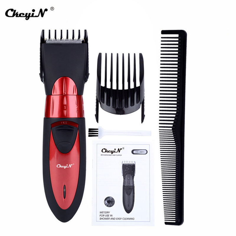 CkeyiN Hair Trimmer Waterproof Clipper Cutting Length Adjustable Cutter Rechargeable Men Shaver Razor Quiet Cutter Child Baby