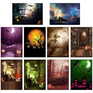Image 1 - Halloween éléments Photo fond toile de fond tissu pour accessoires photographiques Halloween décoration tissu accessoires pour la fête à la maison
