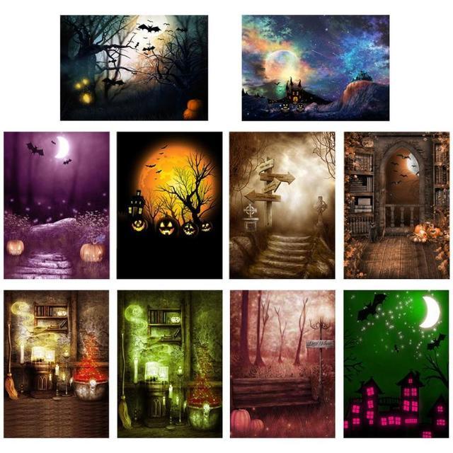Halloween éléments Photo fond toile de fond tissu pour accessoires photographiques Halloween décoration tissu accessoires pour la fête à la maison