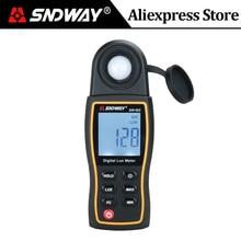 Цифровой светильник SNDWAY 200000Lux, люксметр Люкс/FC, мини-спектрометр, люминометр, фотометр, УФ-измеритель, УФ-радиометр