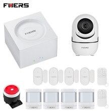 FUERS yeni WIFI GSM Alarm sistemi G95 kablosuz ev güvenlik hırsız Alarm kiti Tuya uzaktan kumanda 11 dil değiştirilebilir paneli