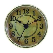 Horloge à Quartz 2.76 pouces (70mm), ajustement/insertion avec chiffre arabe, mouvement à Quartz (garniture dorée)