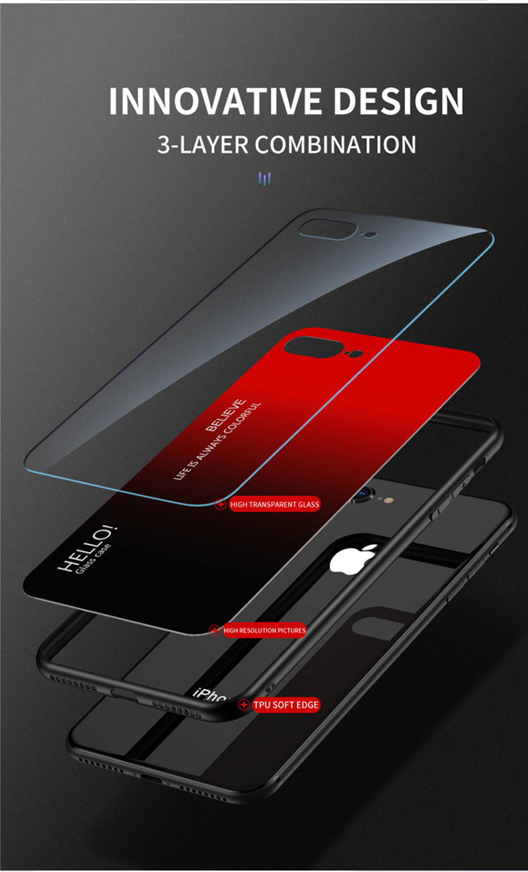 Ollyden Gradient Tempered Glass Cases for iPhone 11/11 Pro/11 Pro Max 6