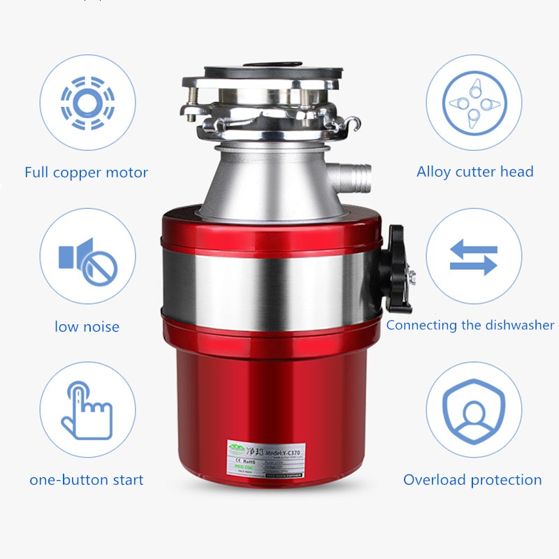 food waste disposers household kitchen waste processor sink drain pipe kitchen waste under the food grinder air switch low noise