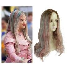 Women Descendants 3 Adult Audrey Wig Princess Long Curly Cos