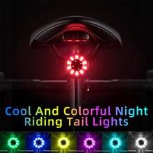 ROCKBROS Fahrrad Hinten Licht USB Lade Sicherheit Warnung Radfahren Licht Bunte Fahrrad Rücklicht Fahrrad Licht Fahrrad Zubehör