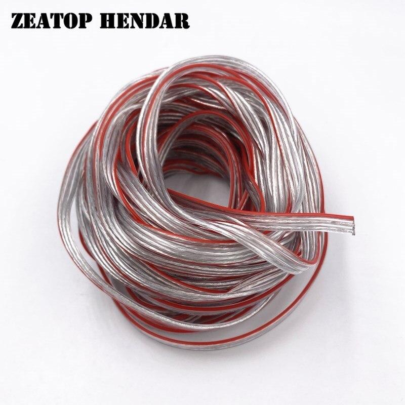 10 м прозрачный шнур питания 3pin 17 нитей медный провод OD 1,8 мм положительный и отрицательный изолированный светодиодный кабель
