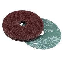 Uxcell 5-Zoll x 7/8-Zoll Aluminium Oxid Harz Faser Discs, zentrum Loch 36 Grit Schleifen schleifen Discs, 5 Pcs