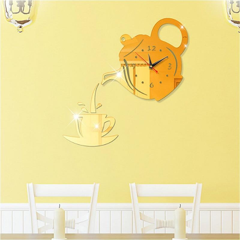 DIY Creative 3D Wall Clock Acrylic Decorative Kitchen Wall Clocks