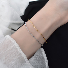 Filluck Real 925 Sterling Silver Chain Cylindrical  Bracelet Simple Style Silver Chain For Man Women's Bracelets Fine Gift