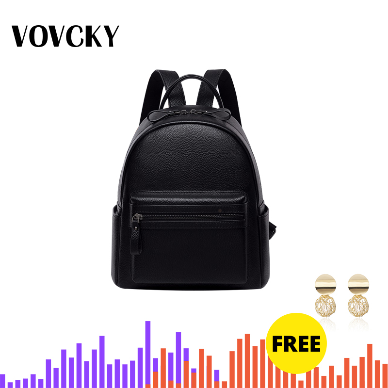 Soft Real Leather Backpack Women Black Small Back Packs For Girls School Backpack For Teenagers Genuine Leather Mochila Feminina image