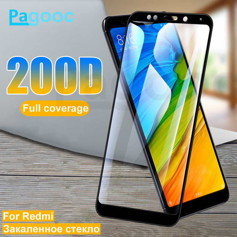 200D Tempered Glass On The For Xiaomi Redmi Note 5 5A 6 Pro S2 Redmi 5 Plus 5A 4X 6 6A Screen Protector Safety Protective Film