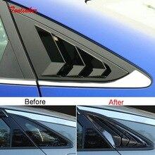 Tonlinker Exterior Car Rear Windows 삼각형 블라인드 커버 스티커 KIA K5 OPTIMA 2020 21 자동차 스타일링 2 PCS ABS 커버 스티커
